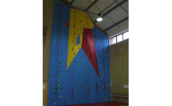 Newport YMCA climbing wall 1